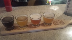 Old Mill Brewpub Flight