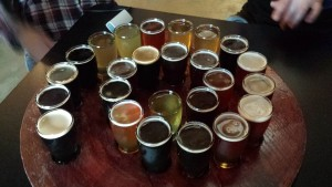 Hideout Brewing Beer Flight