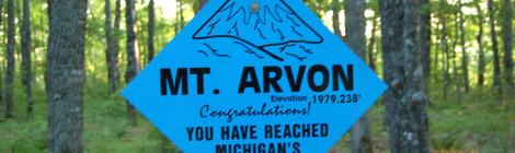 Michigan's Highest Point - Mt. Arvon