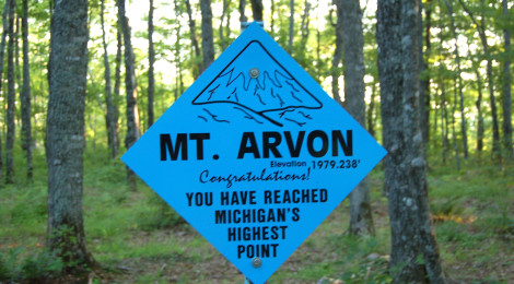 Michigan's Highest Point - Mt. Arvon