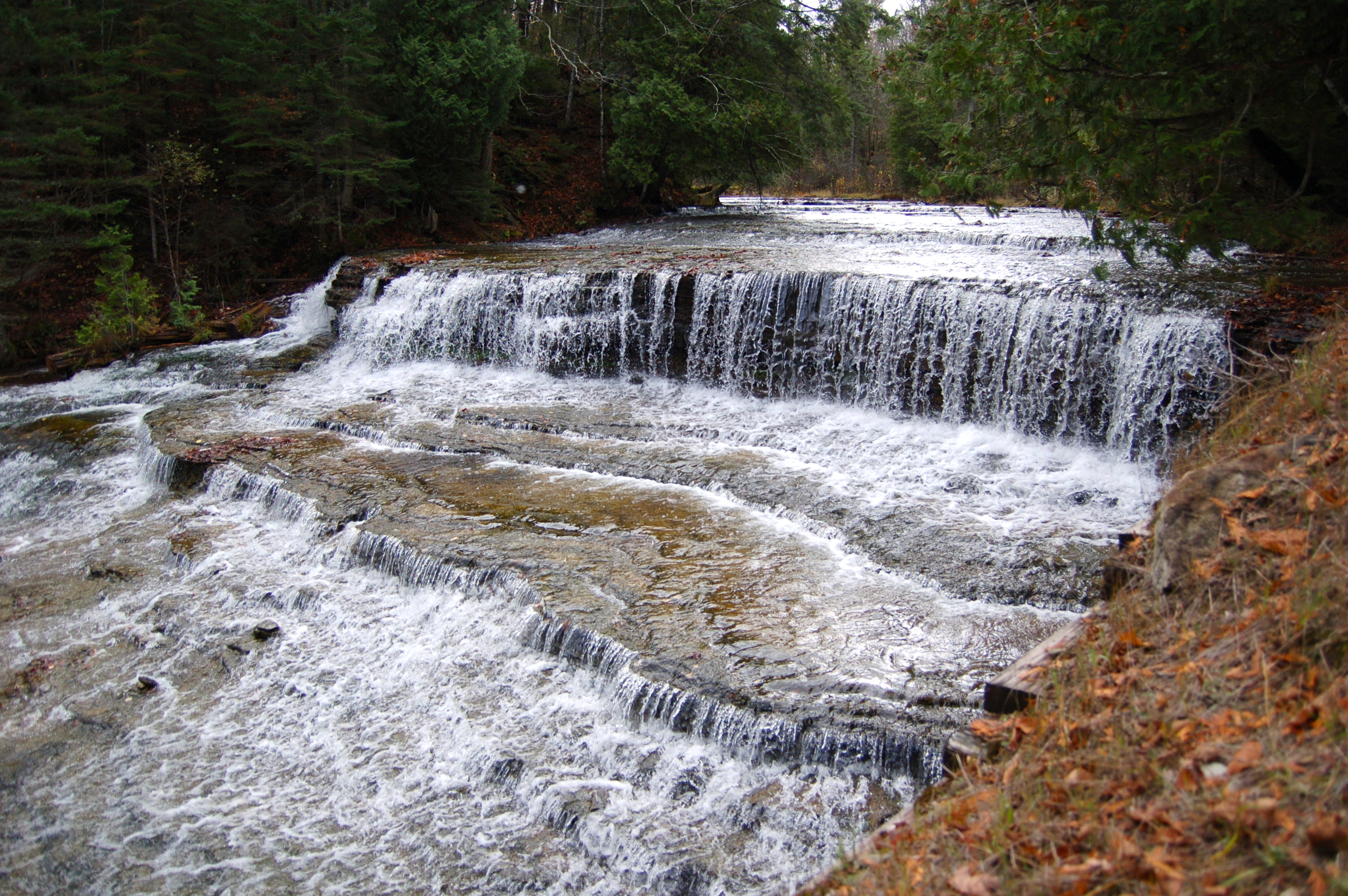 Au Train Falls - Two Scenic Waterfalls on the Au Train River in Alger County