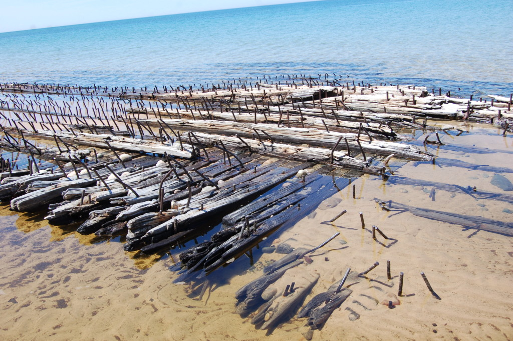 Lake Superior Shipwreck near Au Sable Point