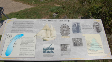 """Christmas Tree Ship"" Rouse Simmons Historic Marker and Park - Manistique"