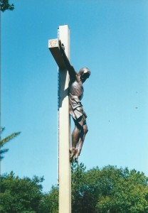 Cross in the Woods Side View