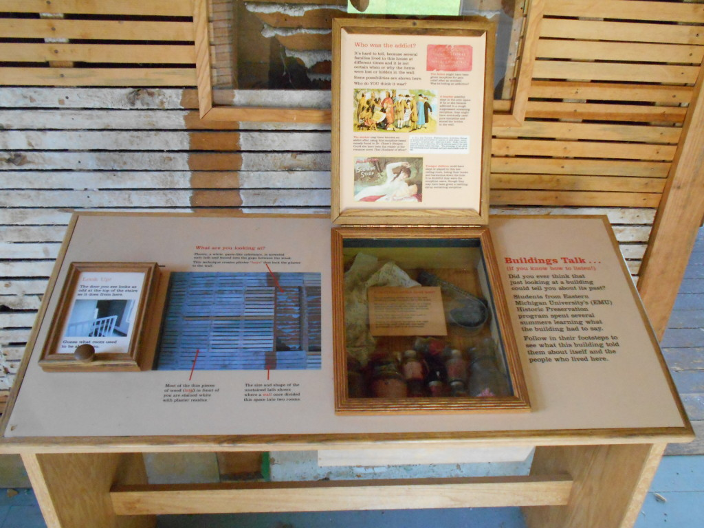One of the many interpretive displays
