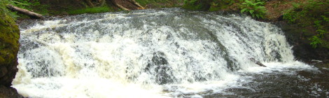 Overlooked Falls and Greenstone Falls - Porcupine Mountains Wilderness State Park