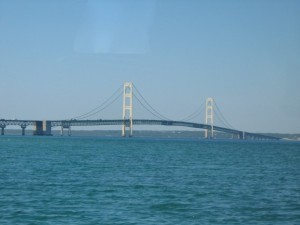 The Mackinac Bridge Connects the Two Peninsulas of Michigan