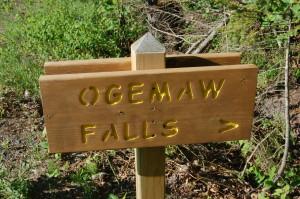 Ogemaw Falls Sign