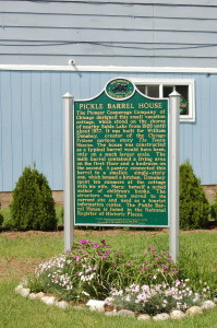 Pickle Barrel House Marker