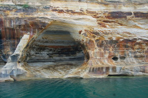 Pictured Rocks Sea Caves