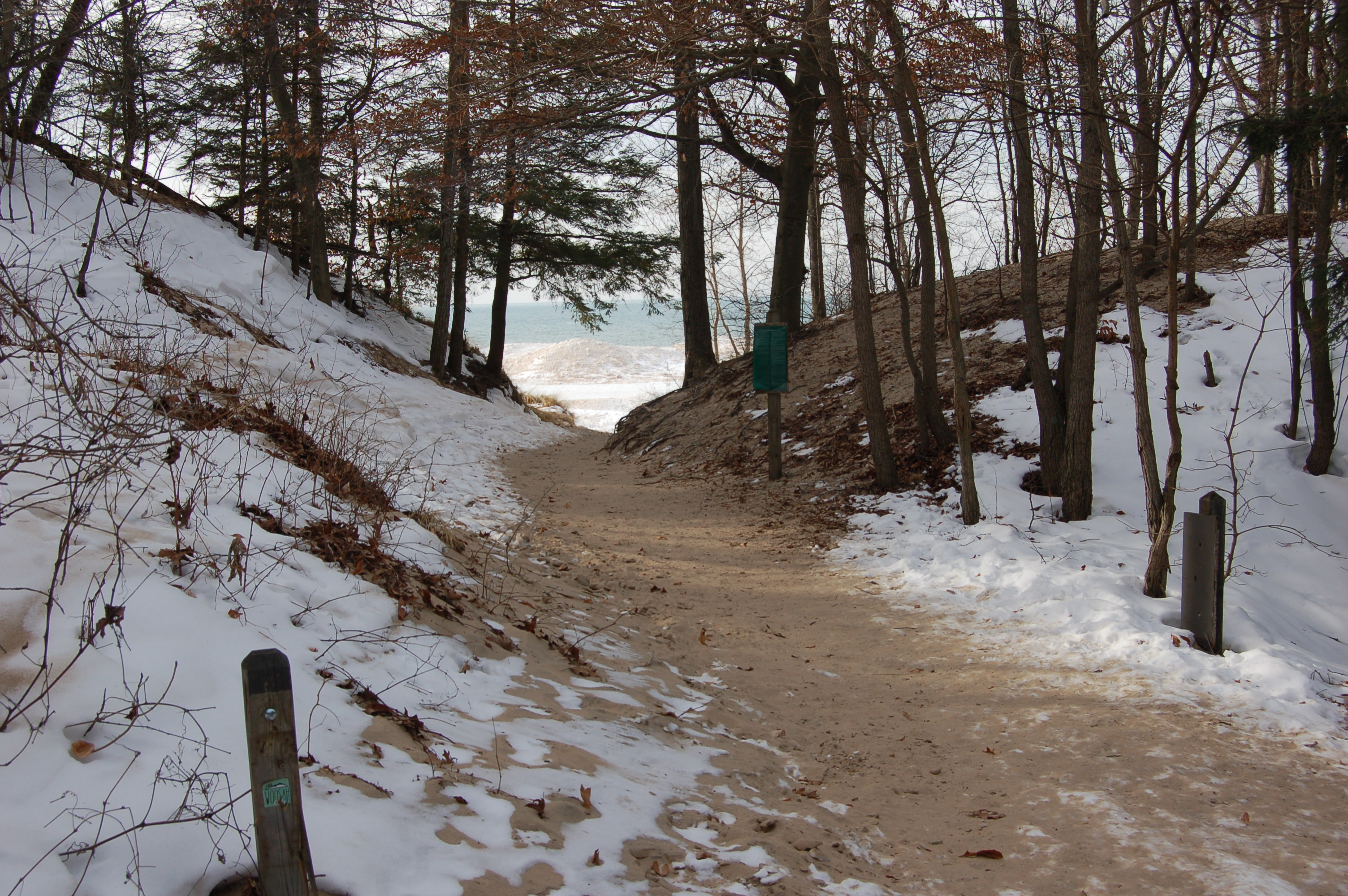 Photo Gallery Friday Saugatuck Dunes State Park In Winter Travel The Mitten