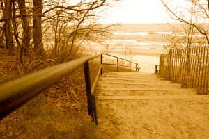 Stairs to Saugatuck Dunes