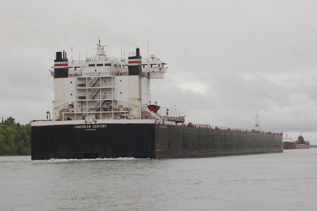 American Century (American Steamship Company, USA) downbound St. Mary's River