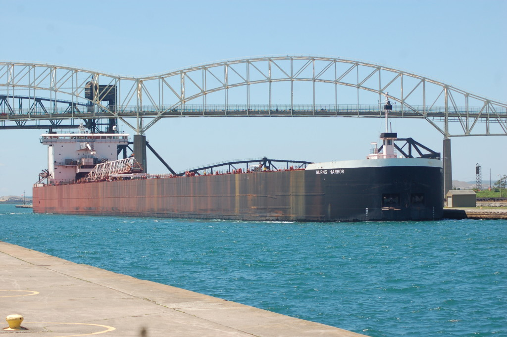 Burns Harbor (American Steamship Company, USA) at the Soo Locks