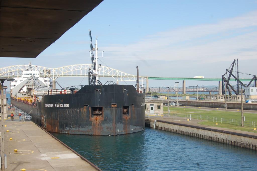 Canadian Navigator (now Algoma Navigator, Algoma Central, Canada) in Soo Locks