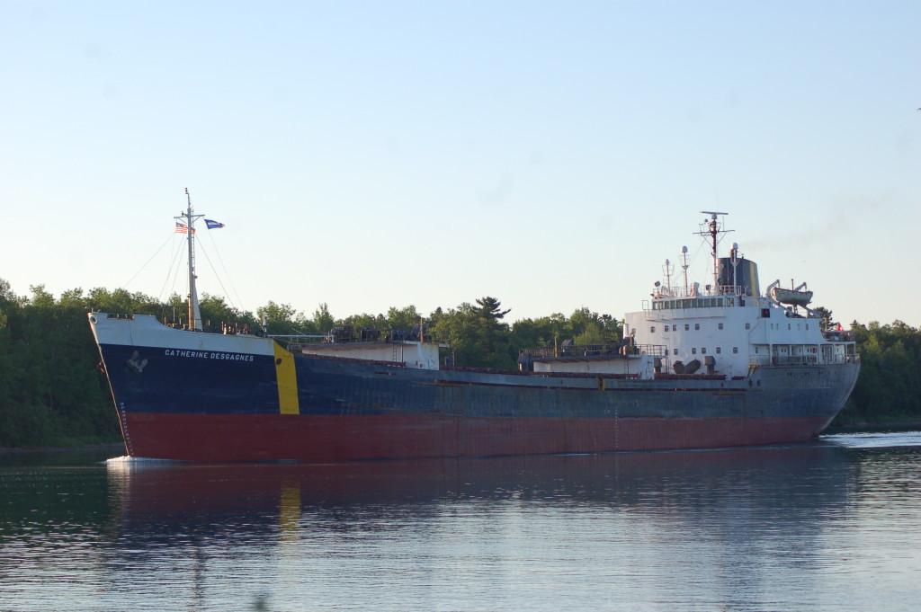 Catherine Desgagnes (Groupe Desgagnes, Canada) upbound St. Mary's River