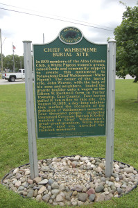 Chief Wahbememe Marker 2