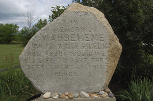 Chief Wahbememe Rock Burial Marker