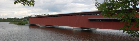 Michigan Roadside Attractions - Langley Covered Bridge in St. Joseph County