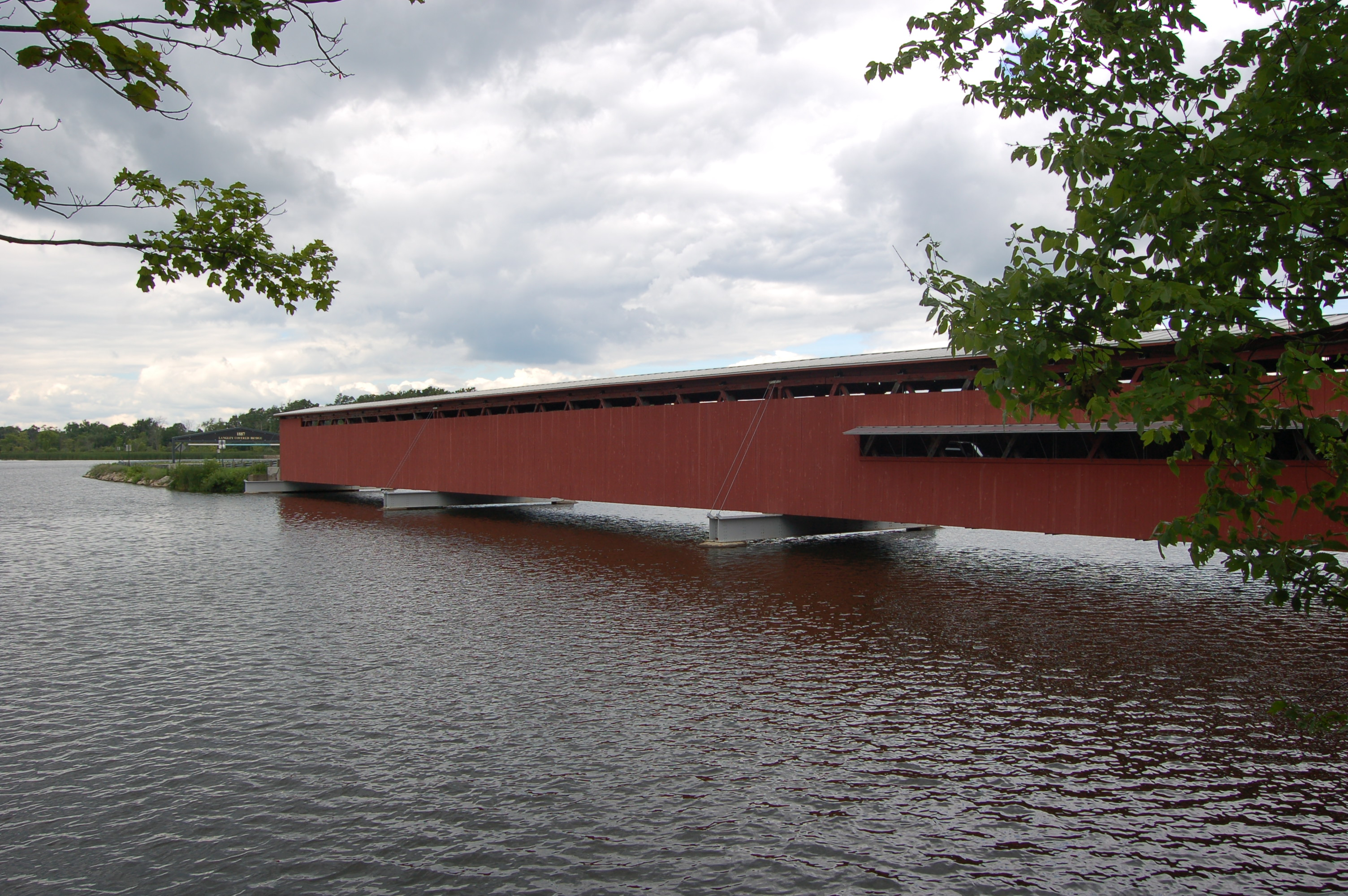 Michigan Roadside Attractions Langley Covered Bridge In