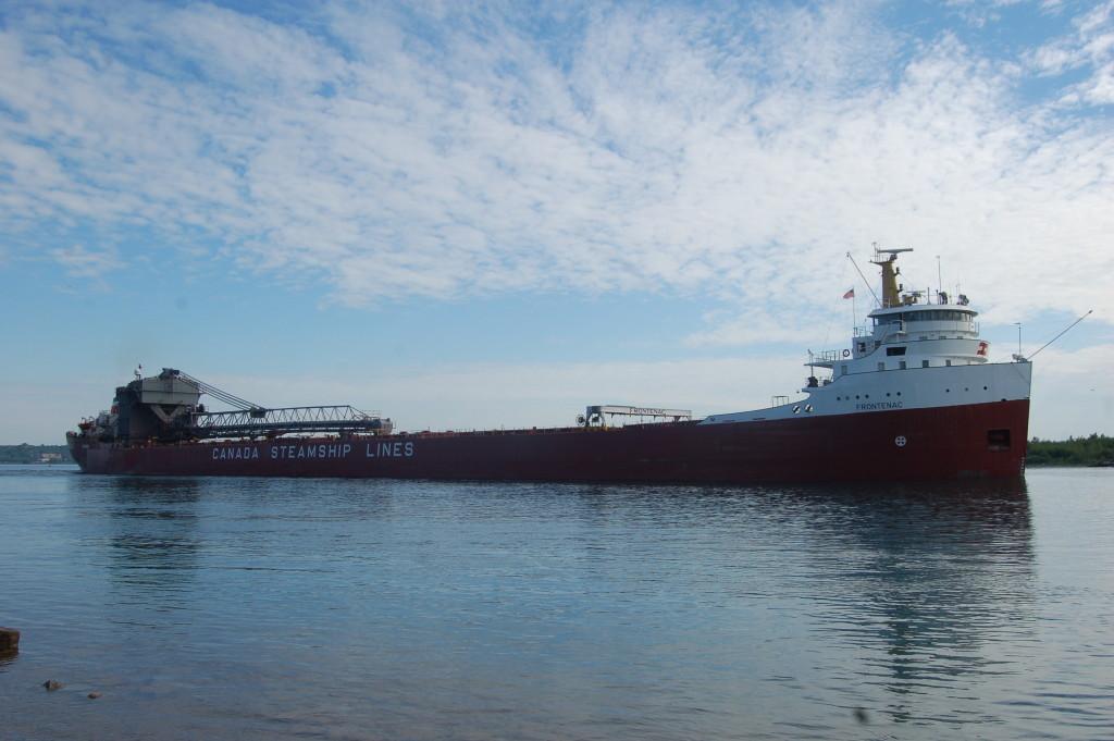Frontenac (Canada Steamship Lines, Canada) downbound near Sugar Island