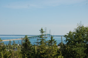 View of Straits of Mackinac from Father Marquette National Memorial