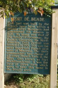 Fort De Buade Marker