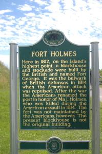 Fort Holmes Historic Marker