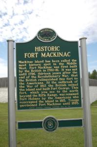 Fort Mackinac Historic Marker