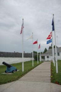 Fort Mackinac Island Flags