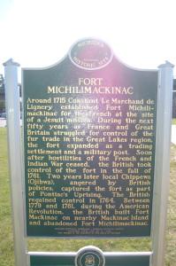 Fort Michlimackinac Marker