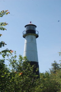 Grand Island Rear Range Light - Christmas