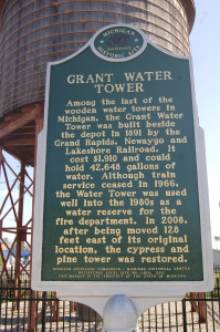 Grant Water Tower Historic Marker