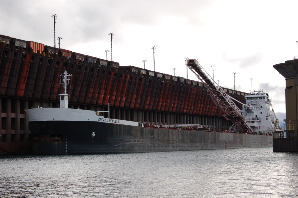 Great Republic (Great Lakes Fleet, USA) at Marquette Ore Dock