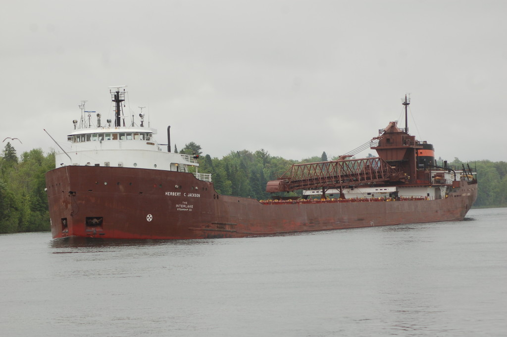 Herbert C. Jackson (Interlake Steamship Co., USA) upbound St. Mary's River