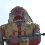 "Michigan Roadside Attractions: Hiawatha, ""World's Tallest Indian"" in Ironwood"