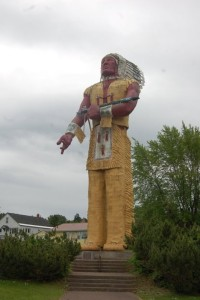 Hiawatha World's Tallest indian