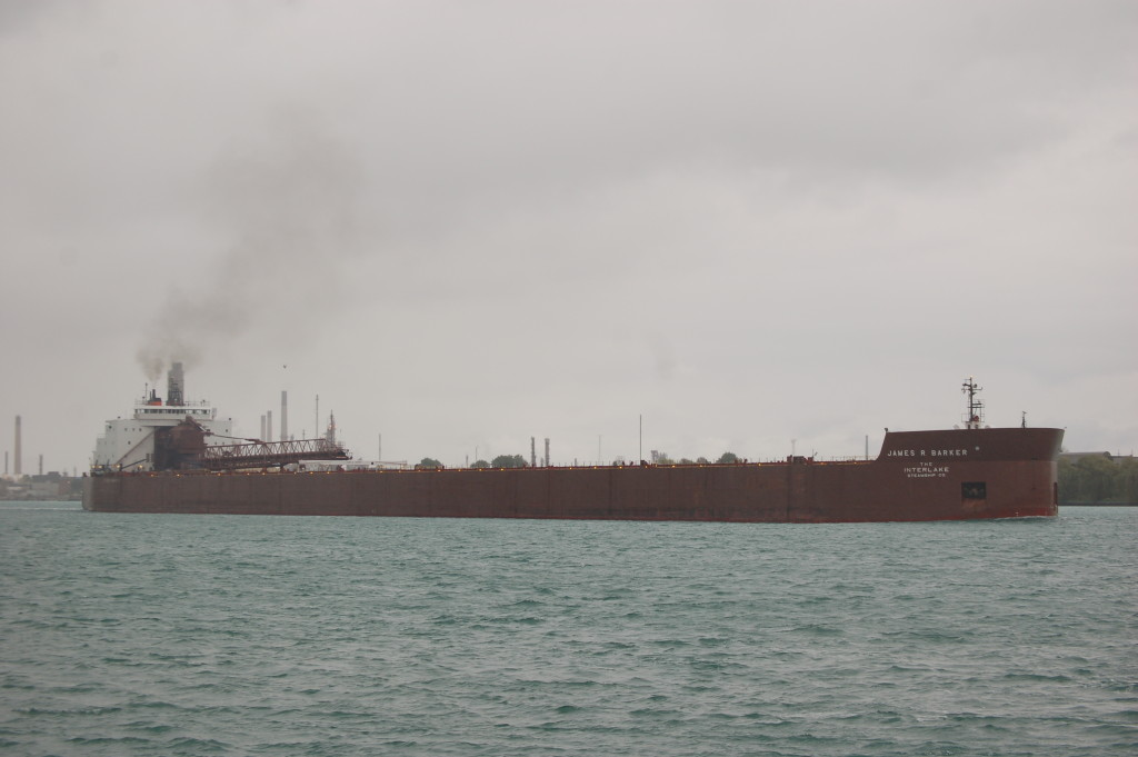 James R. Barker (Interlake Steamship Co., USA) downbound near Port Huron