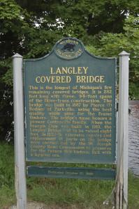 Langley Covered Bridge Marker
