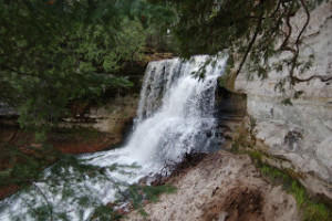 Laughing Whitefish Falls Side View