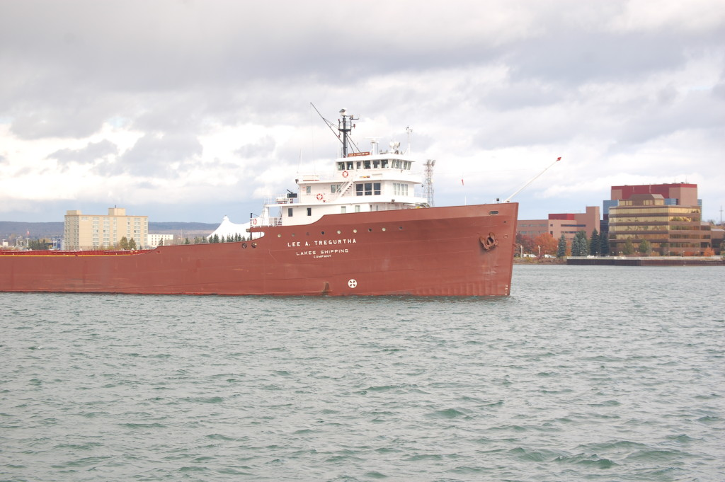 Lee A. Tregurtha (Lakes Shipping Co., USA) near Sault Ste. Marie