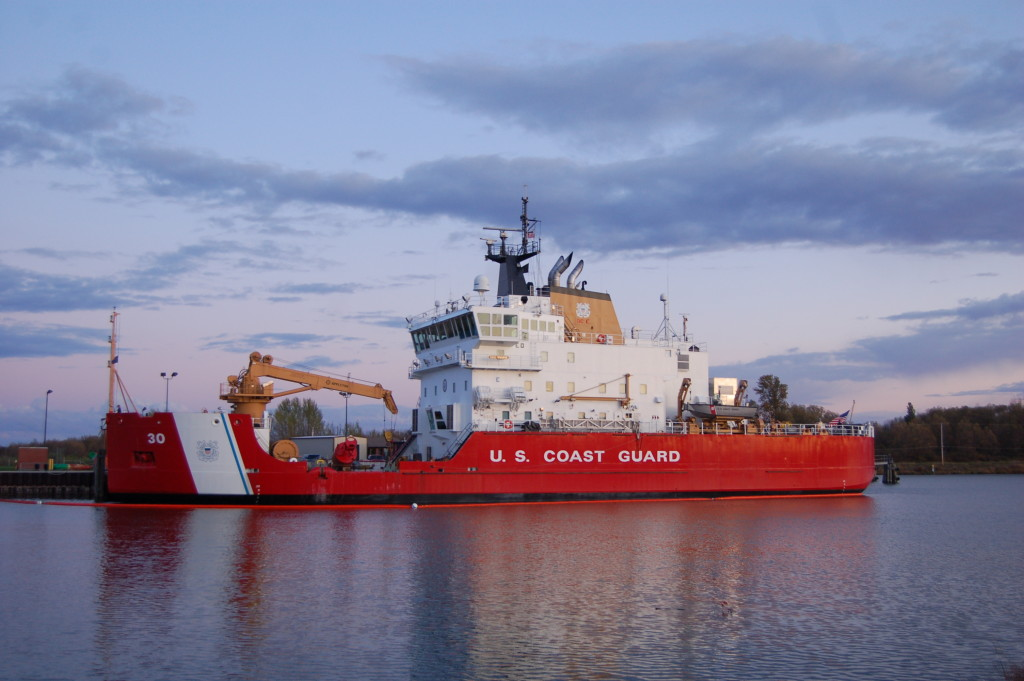 US Coast Guard Mackinaw, docked in Cheboygan