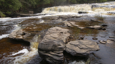 Manido Falls - Presque Isle River, Porcupine Mountain Wilderness State Park