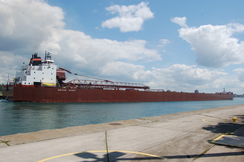 Mesabi Miner (Interlake Steamship Co., USA) at Soo Locks