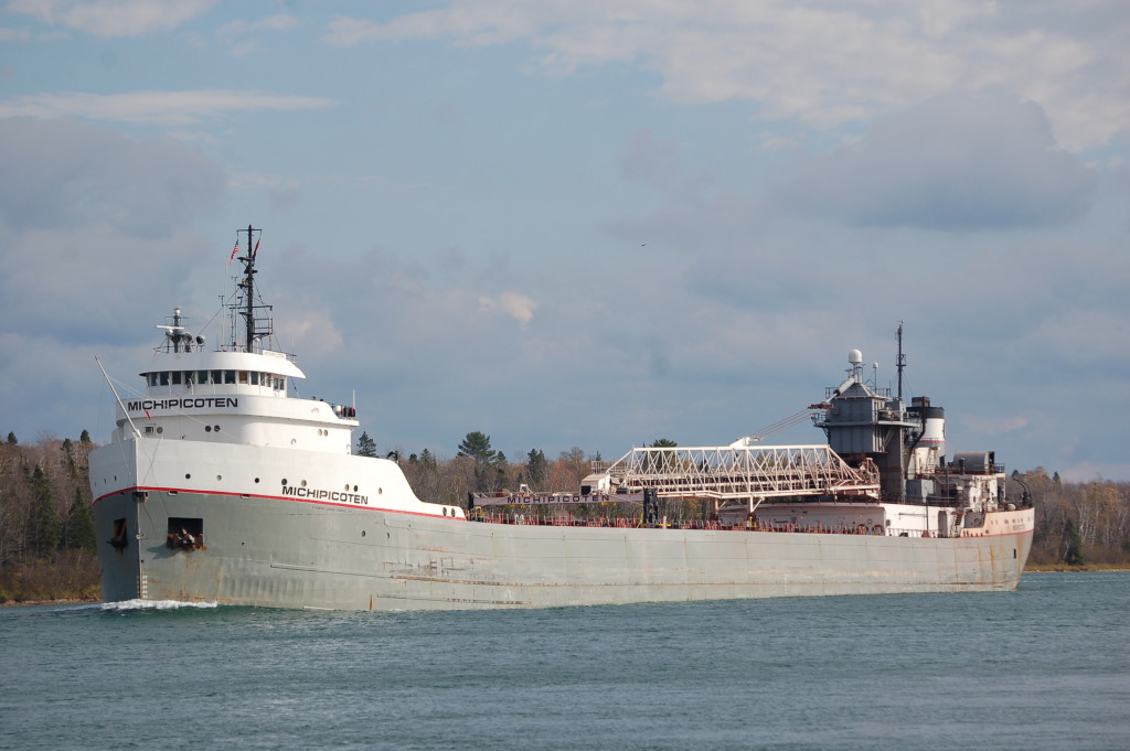 Michipicoten (Lower Lakes Towing, Canada) upbound St. Mary's River in fall