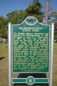 Michlimackinac State Park Marker