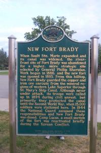 New Fort Brady Marker Sault !