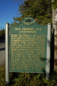 Old Presque Isle Historic Marker Michigan