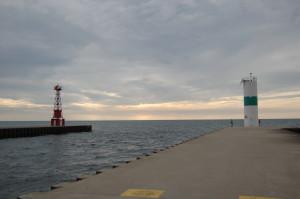 Pentwater Pier Lights