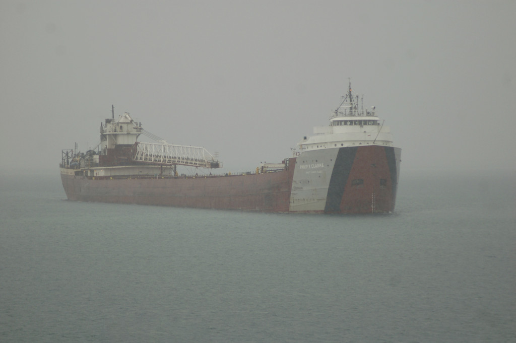 Philip R. Clarke (Great Lakes Fleet, USA) arriving at Calcite
